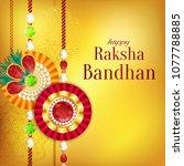 raksha bandhan vector... | Shutterstock .eps vector #1077788885