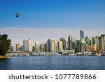 view of vancouver skyline and... | Shutterstock . vector #1077789866