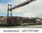 getxo bridge marvelous... | Shutterstock . vector #1077797285