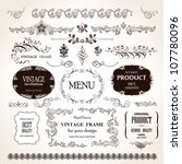 vector vintage frames and... | Shutterstock .eps vector #107780096
