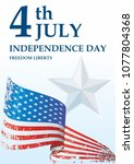 independence day usa  4 th july ... | Shutterstock .eps vector #1077804368