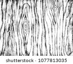 black and white grunge wood... | Shutterstock . vector #1077813035