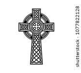 vector celtic cross design   Shutterstock .eps vector #1077822128