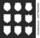 protect guard shield plain line ... | Shutterstock .eps vector #1077842696