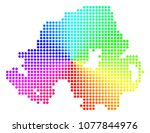rainbow dotted northern ireland ... | Shutterstock .eps vector #1077844976