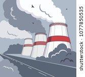 vector illustration of smoking... | Shutterstock .eps vector #1077850535