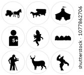 set of 9 simple editable icons... | Shutterstock .eps vector #1077862706