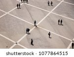 aerial view of a group of... | Shutterstock . vector #1077864515