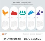 infographics design vector and  ... | Shutterstock .eps vector #1077866522