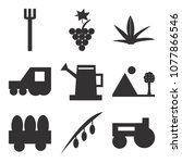 set of 9 simple editable icons... | Shutterstock .eps vector #1077866546