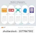 infographics design vector and  ... | Shutterstock .eps vector #1077867302
