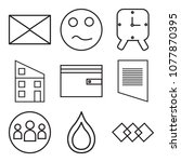 set of 9 simple editable icons... | Shutterstock .eps vector #1077870395