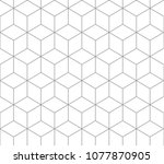 silver outline square pattern ... | Shutterstock .eps vector #1077870905