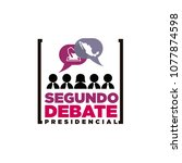 presidential debate. elections... | Shutterstock .eps vector #1077874598