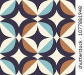 seamless retro pattern in... | Shutterstock .eps vector #1077881948