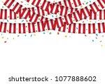 austria flag garland white... | Shutterstock .eps vector #1077888602