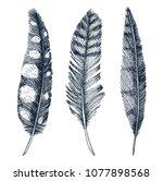 set of rustic realistic... | Shutterstock .eps vector #1077898568
