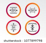 archive file icons. compressed... | Shutterstock .eps vector #1077899798