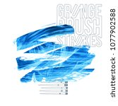 blue brush stroke and texture.... | Shutterstock .eps vector #1077902588
