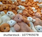 Lots Of Teddy Bears White And...