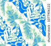 watercolor seamless pattern... | Shutterstock . vector #1077906122