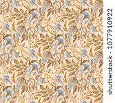 hand drawn seamless pattern of... | Shutterstock . vector #1077910922