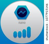 nano. crypto currency sign... | Shutterstock .eps vector #1077915146