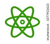 atom icon  atom vector symbol ... | Shutterstock .eps vector #1077922622