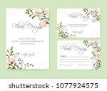 banner on flower background.... | Shutterstock .eps vector #1077924575
