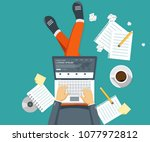 writing a story or column for...   Shutterstock .eps vector #1077972812