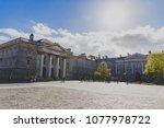 dublin  ireland  april 25th ... | Shutterstock . vector #1077978722