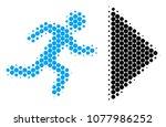 halftone round spot exit... | Shutterstock .eps vector #1077986252