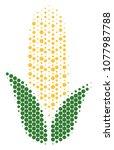 halftone circle corn icon.... | Shutterstock .eps vector #1077987788