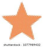 halftone dot fireworks star... | Shutterstock .eps vector #1077989432