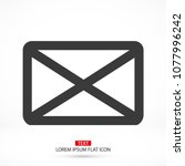 vector icon mail 10 eps | Shutterstock .eps vector #1077996242