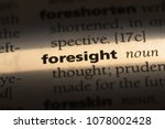 Foresight Word In A Dictionary. ...