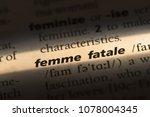 femme fatale word in a... | Shutterstock . vector #1078004345