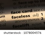 faceless word in a dictionary.... | Shutterstock . vector #1078004576