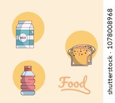 set of food icons | Shutterstock .eps vector #1078008968