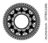 circular openwork frame. lace... | Shutterstock .eps vector #1078011686