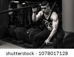 adult male model in gym