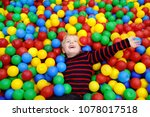 happy little boy having fun in... | Shutterstock . vector #1078017518
