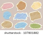 speech bubbles set | Shutterstock .eps vector #107801882