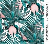 watercolor seamless pattern... | Shutterstock . vector #1078020575