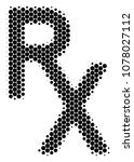 halftone circle rx medical... | Shutterstock .eps vector #1078027112