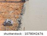builder  fine cement floor  | Shutterstock . vector #1078042676