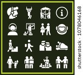 set of 16 people filled icons...   Shutterstock .eps vector #1078046168