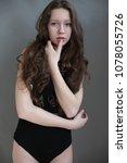 beautiful girl in swimsuit...   Shutterstock . vector #1078055726