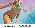 underwater woman portrait in... | Shutterstock . vector #107807312