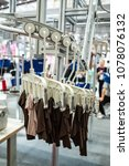 fully automatic garment hanging ... | Shutterstock . vector #1078076132